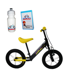 Bicicleta de Impulso Negro-Amarillo
