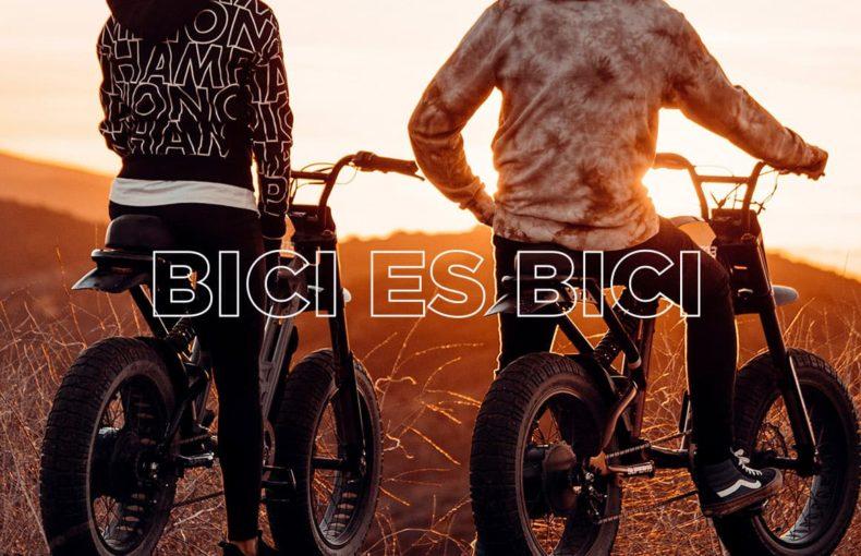 Una bicicleta con motor es una motocicleta